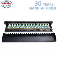 Wholesale CAT6 STP Shielded Rack Mount Patch Panel 1U 19 Inch 24 Port IDC PCB Type from china suppliers