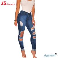 Wholesale Light Wash Womens High Waisted Skinny Jeans High Waist Slim Fit Jeans from china suppliers
