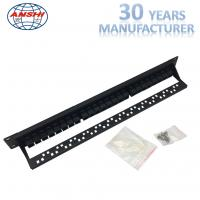 Wholesale Black Rack Mount Patch Panel 19inch Unshielded Type With SGS Certificate from china suppliers