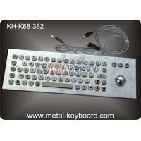 Wholesale 68 Keys Industrial Ss Pc Water Resistant Keyboard With 25mm Laser Trackball Mouse And Buttons from china suppliers
