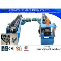 Wholesale Solar Energy Rack Roll Forming Machine With Non Stop Punching System 41 x 21 / 41 x 41 from china suppliers
