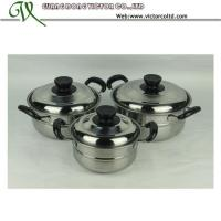 Wholesale Stainless steel Stripe Belly Casserole Set Cookware set Bakelite handleV-DSB from china suppliers