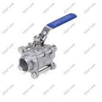 Wholesale Butt Welding End Connection Pieces Stainless Steel 3 Piece Water Ball Valve from china suppliers