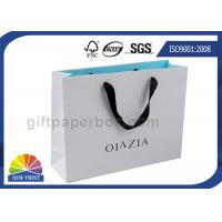 China Grosgrain / Cotton Handle Shopping Paper Bags For Retail Promotion on sale