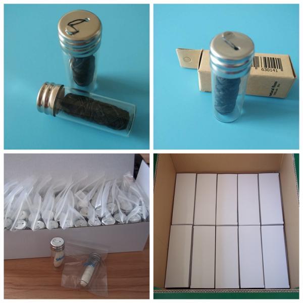 30m Bamboo charcoal dental floss in glass bottle