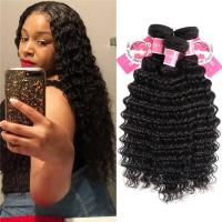 Wholesale Deep Wave Peruvian Human Hair Bundles 3 Pieces Virgin Remy Hair Weave from china suppliers