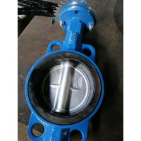 Wholesale Cast Iron Wafer Type Butterfly Valve in Handle /Worm Gear from china suppliers