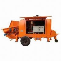 China Trailer Concrete Pump with Diesel Engine and 7cmb/hour Small Output on sale
