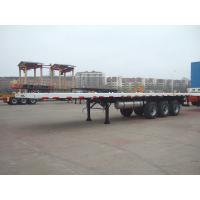Wholesale High Capacity 40 ft Flatbed Semi Trailer , Commercial Flatbed Trailer with 3 Axles from china suppliers