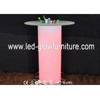China Color changing LED Illuminated Table / Commercial Plastic Romantic LED Pillars Columns on sale