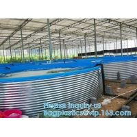 Wholesale Aquaculture Pool PVC Coated Cloth COATED BANNER Tarpaulin Greenhouse Fish Pond Crayfish Koi Culture Child Water Pool from china suppliers