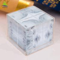 Wholesale Clear 6 Side Acrylic Photo Frames Cube  Customized Size  Silk Screen Printing from china suppliers