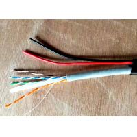 Wholesale Double Jacket PE+PVC UTP CAT6+2C Outdoor Video Cable , Siamese Camera Cable With Power from china suppliers