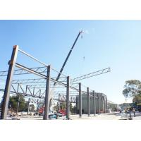 Wholesale Unique Column Removing Truss Steel Structure , Grey Steel Building Workshop from china suppliers