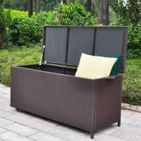 Wholesale High quality and huge capacity outdoor rattan storage boxes with wheel from china suppliers