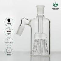 8 Sprinkler Percolator Glass Bongs Accessories Clear Ash Catcher 45 Degree 14.4mm Female Male