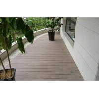 Natural Waterproof Composite Decking For Balcony / Anti - Slip Deck Flooring Tiles