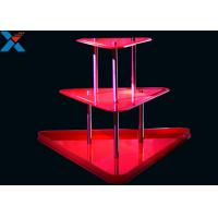 Wholesale Crystal Clear Acrylic Display Stands 3 Layer Lucite Wedding Wine Stand from china suppliers