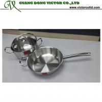 Wholesale High quality Tri-ply stainless steel cookware set 22cm pot 26cm frying pan from china suppliers