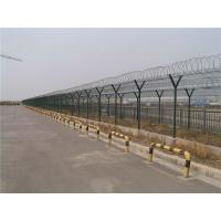 Wholesale Practical Anti Climb Fencing / Airport Security Fence With Razor Barbed from china suppliers