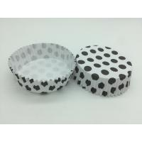 Wholesale Round Shape Wedding Black And White Polka Dot Cupcake Liners Greaseless Non Stick from china suppliers