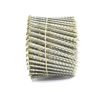 Wholesale 15 Degree .120''*3'' Bright Finish  Screw Shank Flat Head / Checked Head Pallet Coil Nails from china suppliers