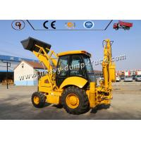 Buy cheap 8200kg 100hp Heavy Construction Equipment 4wd Backhoe Loader Mini Size from wholesalers