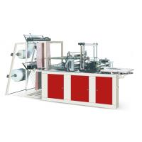 Four Lines Plastic Poly Bag Making Machine Cold Cutting For Flat Opening Bags