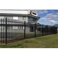 Wholesale Tubular Steel Garrison Fence Flat Top Design 25MM  2400mm (H) x 2100mm (W) from china suppliers