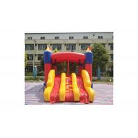 Buy cheap Commercial Grade 0.55mm Pvc Pencil Shape Three Slide Inflatable Bouncer Combo from wholesalers
