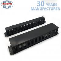 Wholesale Black Networking Horizontal Cable Manager 19 Inch 2u 12 Ports Rack Mount from china suppliers