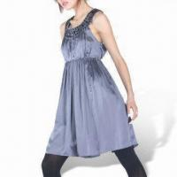 Wholesale Women's Cocktail Dress with Rhinestone Round Neck from china suppliers