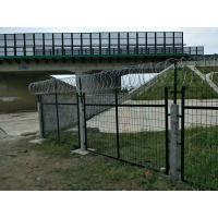 Wholesale Powder Coated Anti Climb Fencing With Barded Wire At Top Of Fence from china suppliers