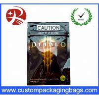 Buy cheap Ddiablo Herbal Incense Plastic Ziplock Bags Reclosable Poly Bags , Black Pink from wholesalers