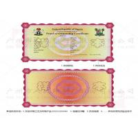 Buy cheap Diploma Certificate Security Sticker Printing Stable With Temperature Resistance from wholesalers