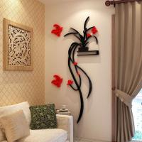 Wholesale Fashion Beautiful Flowers Bedroom wallpaper for living room 3d flower wall stickers decal from china suppliers