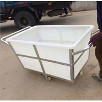Wholesale K500liter Rotomolding Large square Plastic storage laundry carts and trolley with wheels from china suppliers