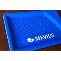 China Rectangle Plastic coin tray full printing Blue Soft PVC coin trays on sale