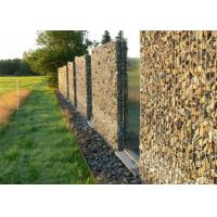 Wholesale Decorative Gabion Baskets For Gardens , Green Gabion Fences Wall for Landscape from china suppliers