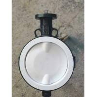 Wholesale White And Blue  PTFE lined butterfly valve ,  Ptfe Seat Butterfly Valve   Headless  Type DN40 - DN150 Size Customized from china suppliers
