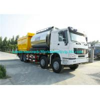 Wholesale ZZ3317N4667D1 Road Maintenance Machinery , Fiber Asphalt Chip Seal Chip Sealer Machine from china suppliers