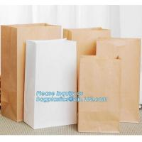 Wholesale Custom bakery paper bag / Food grade bread packaging bags, white or brown craft paper bag,greaseproof kebab sandwich bre from china suppliers