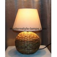 Buy cheap Modern Seagrass Table Lamp D25.5xH46cm Size 110 - 240V Voltage UL Approved from wholesalers