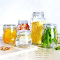 Wholesale Stainless Steel Buckle Sealing Glass Storage Jar Round Square Food Tea Honey Bottle from china suppliers