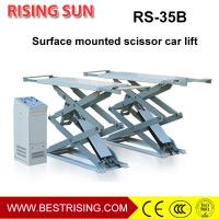 Buy cheap High rise 4 c ylinder on ground mounted car lift with double scissor from wholesalers