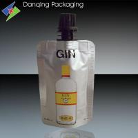 Wholesale flexible packaging,aluminum foil stand up pouch with spout, wine bag with spout from china suppliers