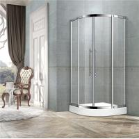 Wholesale Black Titanium Offset Shower Enclosure / Steam Shower Enclosure With Two Center Pillar from china suppliers