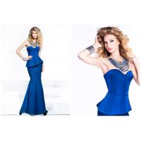 Wholesale Long Mermaid Satin Sweetheart Ladies Party Dresses with Crew Necklace from china suppliers