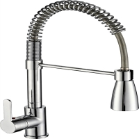 Wholesale Chrome Copper OEM Commercial Sink Faucet With Pull Down Sprayer from china suppliers