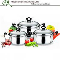 Wholesale Hot sales Stainless steel  cookware set Safety dish 16cm, 18cm, 20cm  Stripe Belly Casserole Set from china suppliers